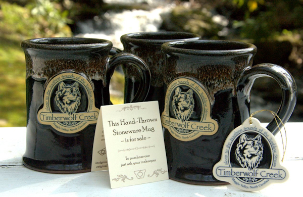 Coffee by the Creek - New Timberwolf Creek mugs from Deneen Pottery