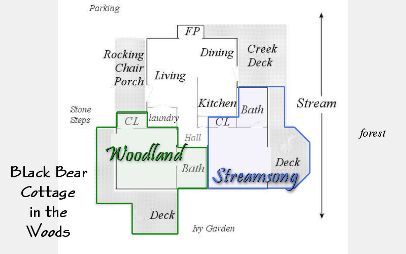 romantic cabin floor plans. house  named The Black Bear Cottage in the Woods Maggie Valley Bed and Breakfast Smoky Mountain Weddings