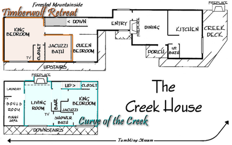 romantic cabin floor plans. building  named The Creek House Maggie Valley Bed and Breakfast Smoky Mountain Weddings