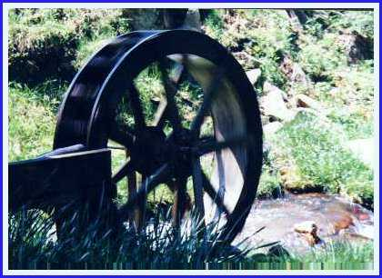 Water wheel at Maggie Valley's Most Romantic Inn - Timberwolf Creek Bed and Breakfast - NC - Smoky Mountains